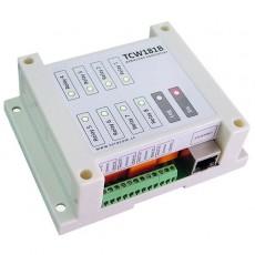 Controlador-Telemando IP 8 relés salida 1 entrada digital