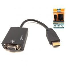 Conversor de HDMI A macho a VGA + audio 0.22 m