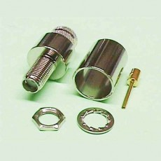 Conector SMA hembra panel cable LMR400/RG8