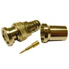 Conector BNC macho crimpar cable RG11/RG213