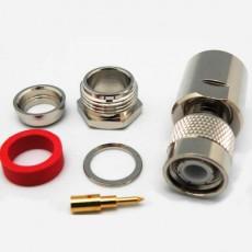 Conector TNC macho soldar clamp cable RG11/RG213