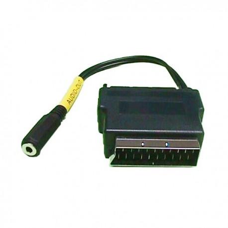 Euroconector macho-hembra a jack 3,5 stereo hembra