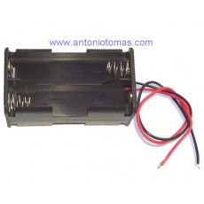 Contenedor para 4 baterías o pilas AA