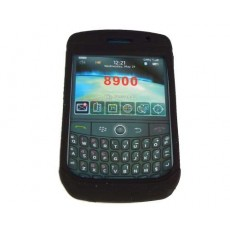 Funda de goma negra Blackberry 8900