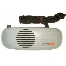 Amplificador con laringófono y micrófono