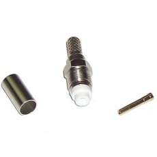 Conector FME hembra para cable RG58 crimpar