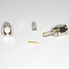 Conector SMA macho cable RG174 crimpar