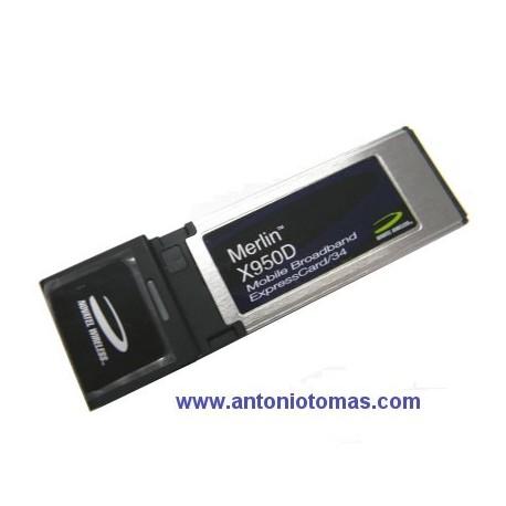Tarjeta Express Card 3G/3,5G Novatel Merlin X950D