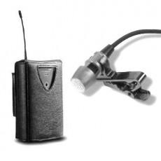 Micrófono inalámbrico de solapa con pinza