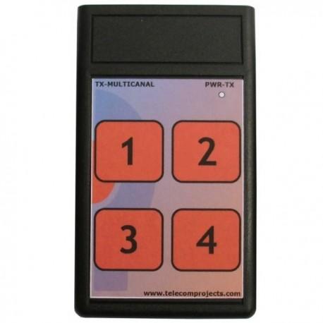 Emisor Telemando 433 MHz TX-MC 4C