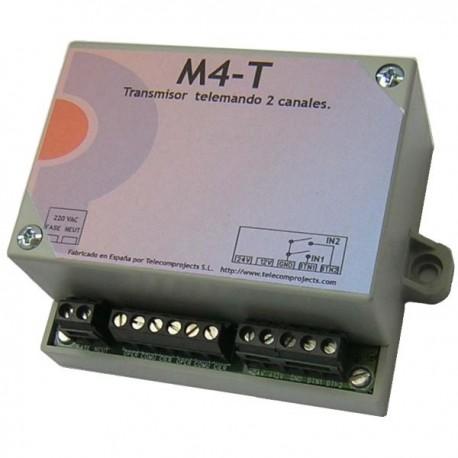 Emisor Telemando de 2 canales 433 MHz