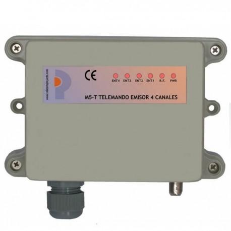 Emisor Telemando M5-T de 4 canales 433 MHz