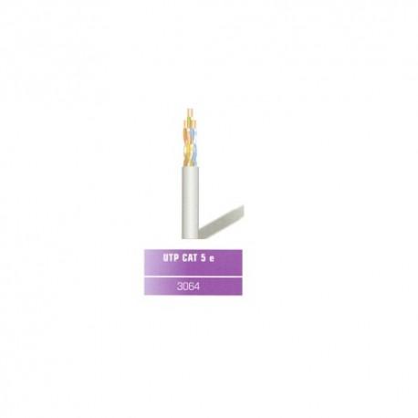 Cable UTP categoría 5E rígido color gris montado a medida