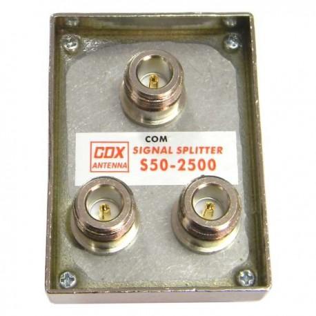 Splitter para exteriores 2.400 a 2.500 MHz
