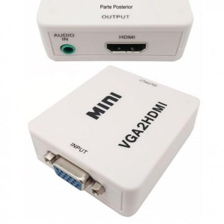 Conversor de VGA + audio 3.5 mm a HDMI