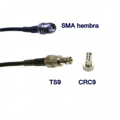 Pigtail CRC9 + TS9 - SMA hembra