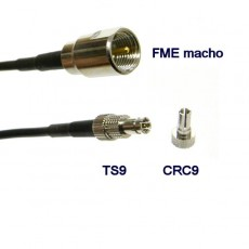 Pigtail CRC9 + TS9 - FME macho