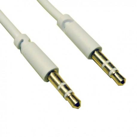 Cable 30 cms jack macho-jack macho stéreo 3,5