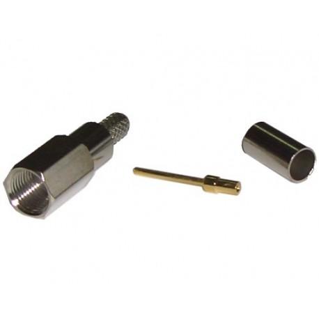 Conector FME macho cable RG58 crimpar