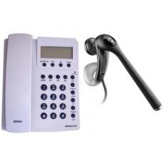 Teléfono Jetfon 20ID blanco + auricular manos libres Plantronics