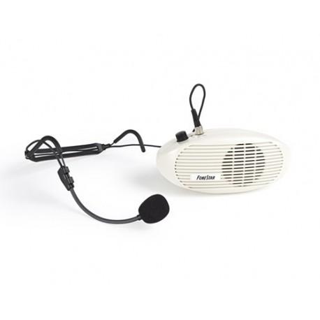 Amplificador personal para cintura con micrófono