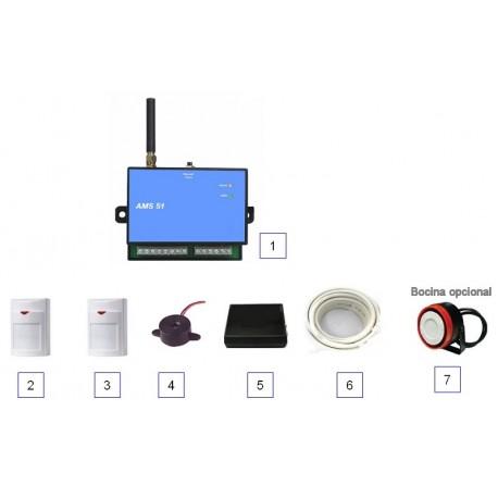 Kit alarma Gsm seguridad + control domótico