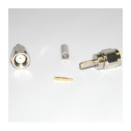 Conector SMA macho cable RG174 crimpar
