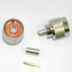 Conector N macho para cable RG58 crimp