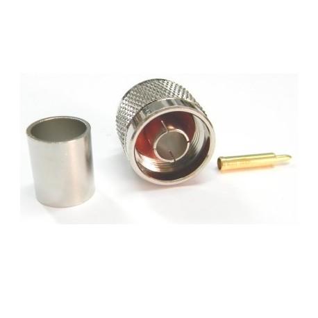 Conector N macho cable RG213/LMR400 C